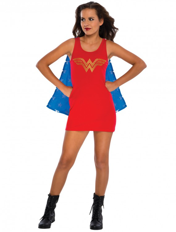 Teen Wonder Woman Tank Dress, halloween costume (Teen Wonder Woman Tank Dress)