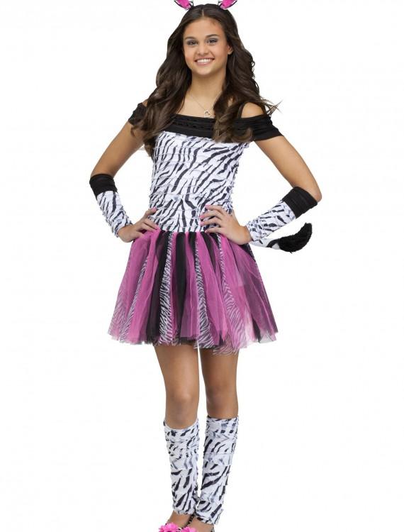 Teen Zebra Costume, halloween costume (Teen Zebra Costume)