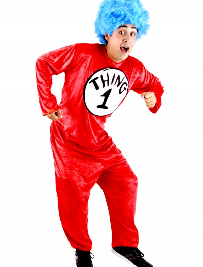 Thing 1 & Thing 2 Adult Costume, halloween costume (Thing 1 & Thing 2 Adult Costume)