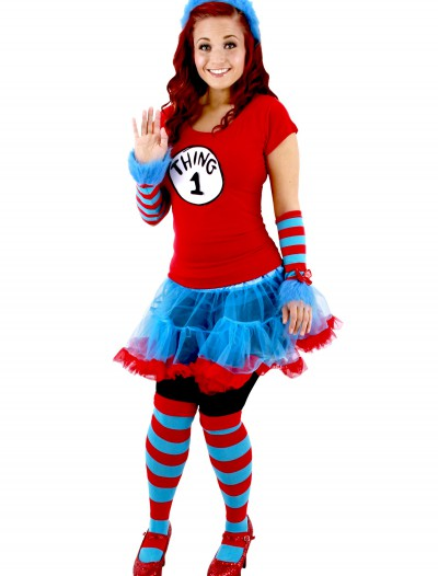 Thing 1 & Thing 2 Adult Tutu Costume, halloween costume (Thing 1 & Thing 2 Adult Tutu Costume)