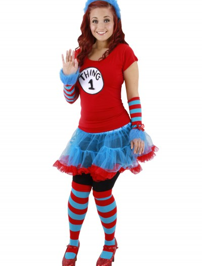 Thing 1 & Thing 2 Striped Knee Highs, halloween costume (Thing 1 & Thing 2 Striped Knee Highs)