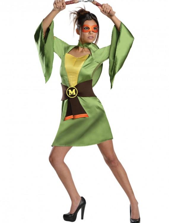 TMNT Adult Geisha Michelangelo Costume, halloween costume (TMNT Adult Geisha Michelangelo Costume)