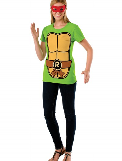 TMNT Women's Raphael Costume Top, halloween costume (TMNT Women's Raphael Costume Top)