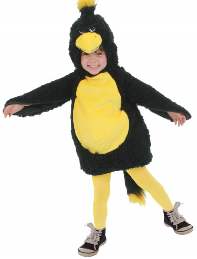 Toddler Black Grumpy Bird Costume, halloween costume (Toddler Black Grumpy Bird Costume)