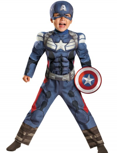 Toddler Captain America 2 Muscle Costume, halloween costume (Toddler Captain America 2 Muscle Costume)