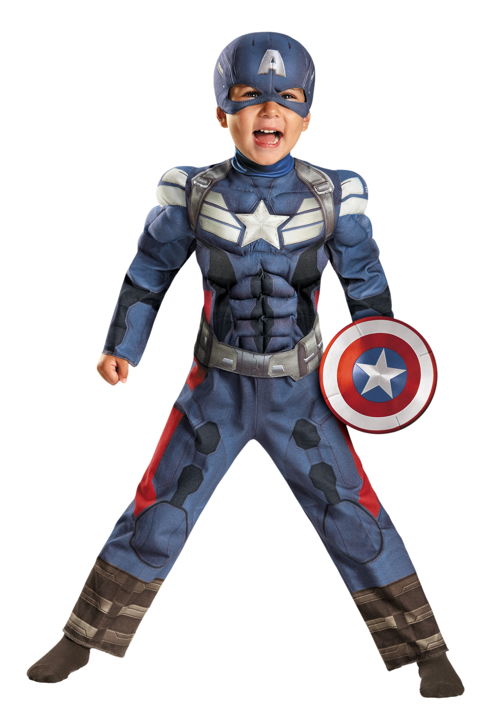 toddler captain america 2 muscle costume halloween costumes. Black Bedroom Furniture Sets. Home Design Ideas