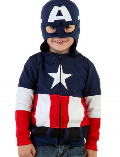 Toddler Captain America Costume Hoodie, halloween costume (Toddler Captain America Costume Hoodie)