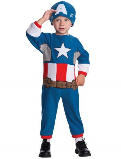 Toddler Captain America Fleece Jumpsuit, halloween costume (Toddler Captain America Fleece Jumpsuit)