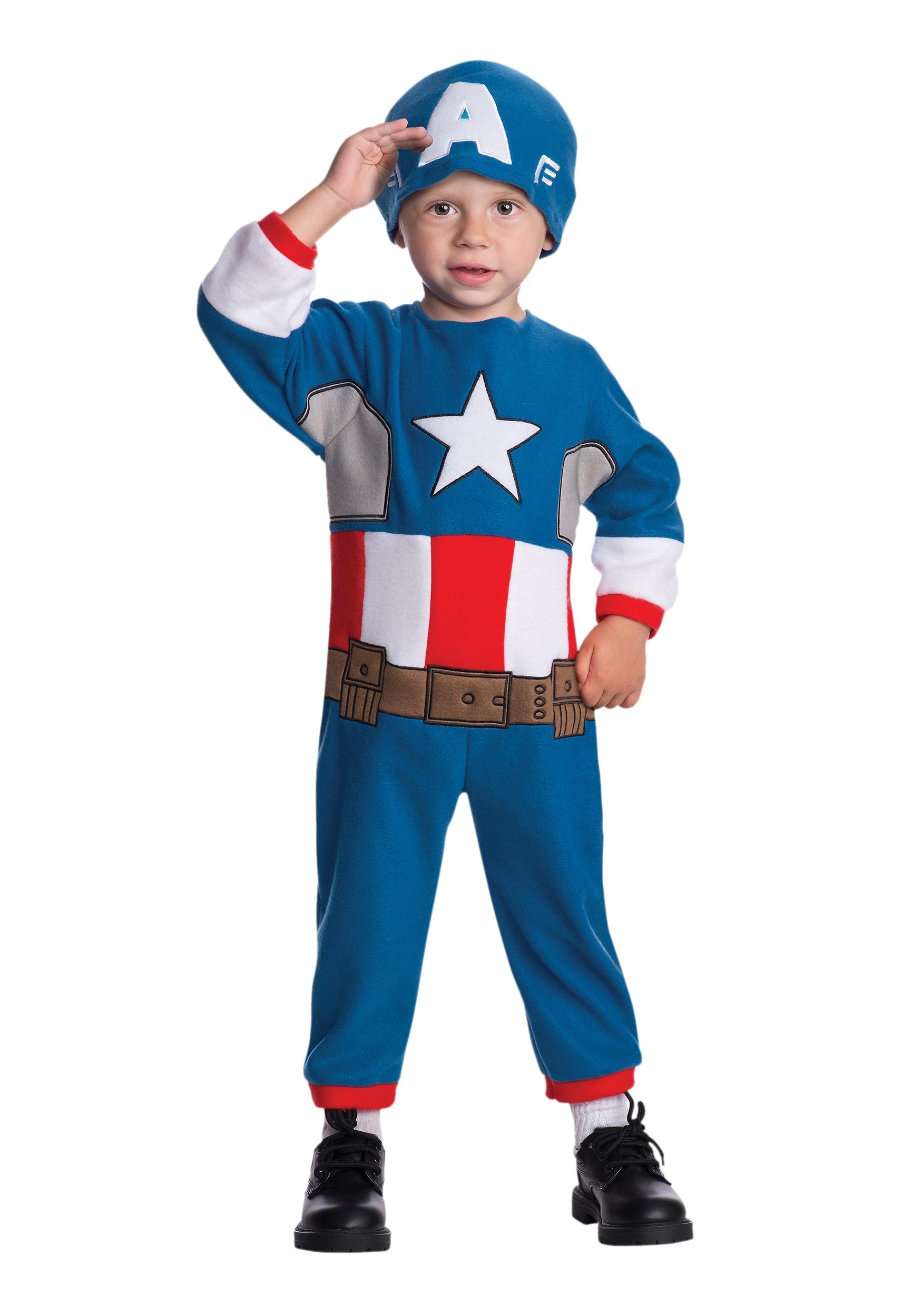 Toddler Captain America Fleece Jumpsuit