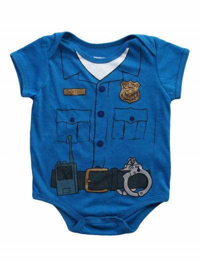 Toddler Cop Uniform Onesie T-Shirt, halloween costume (Toddler Cop Uniform Onesie T-Shirt)