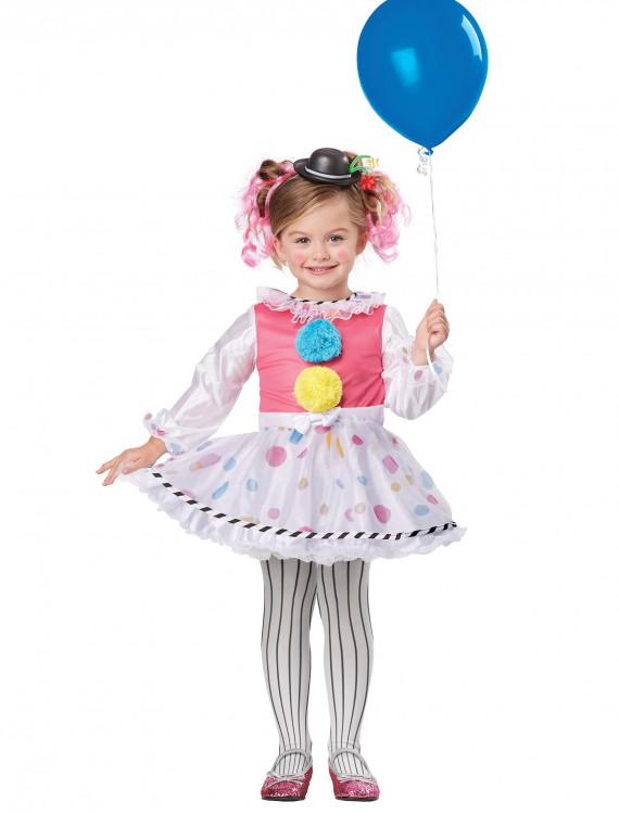 Toddler Cutsie Clown Costume, halloween costume (Toddler Cutsie Clown Costume)