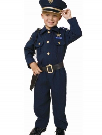 Toddler Deluxe Police Officer Costume, halloween costume (Toddler Deluxe Police Officer Costume)