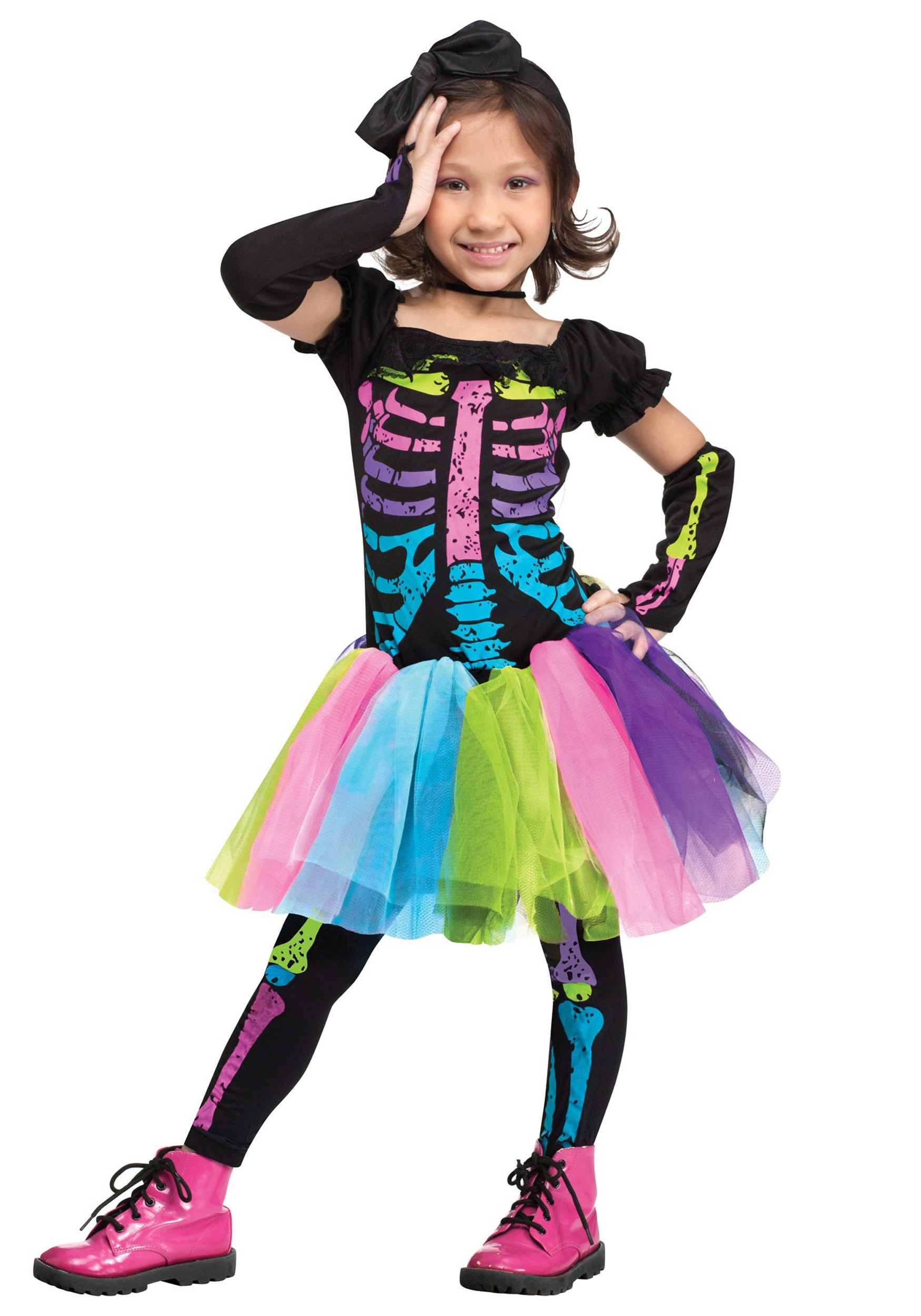 toddler funky punky bones costume - halloween costumes