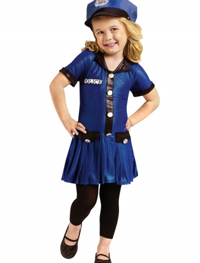 Toddler Girls Police Costume, halloween costume (Toddler Girls Police Costume)