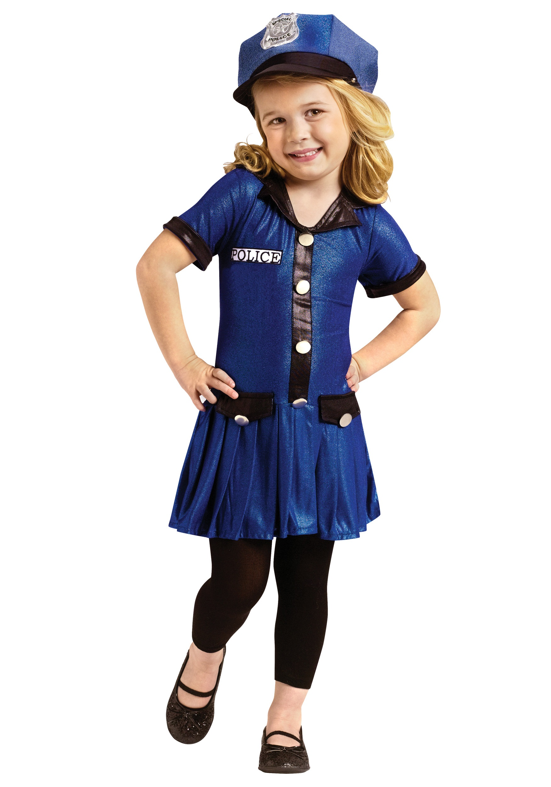 Toddler Girls Police Costume - Halloween Costumes