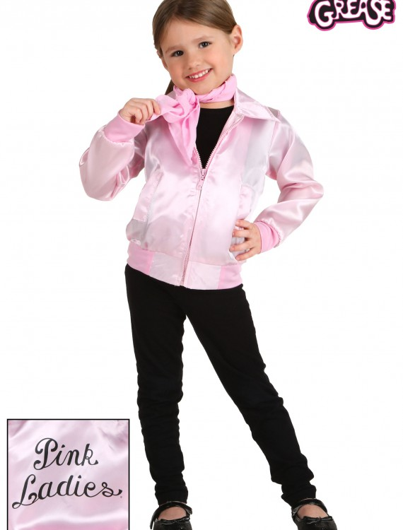 Toddler Grease Pink Ladies Jacket, halloween costume (Toddler Grease Pink Ladies Jacket)