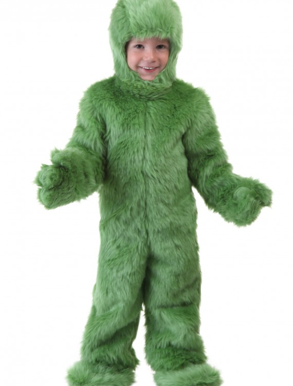 Toddler Green Furry Jumpsuit, halloween costume (Toddler Green Furry Jumpsuit)