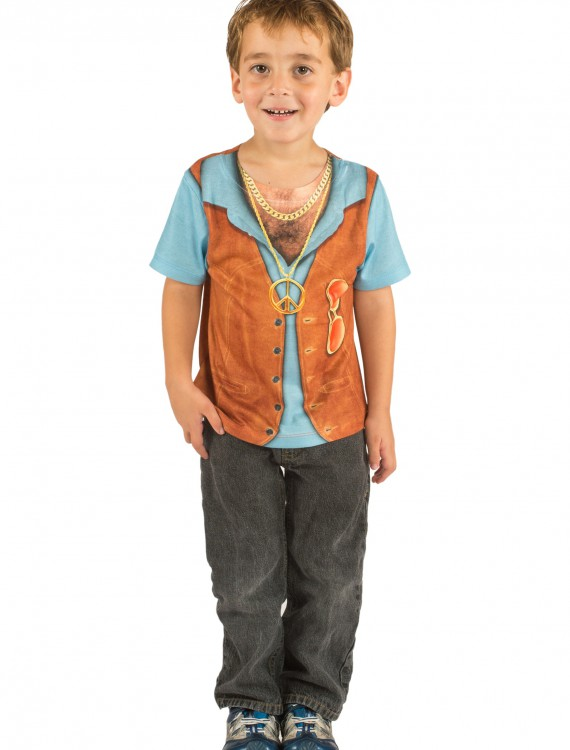 Toddler Hairy Chest Costume TShirt, halloween costume (Toddler Hairy Chest Costume TShirt)
