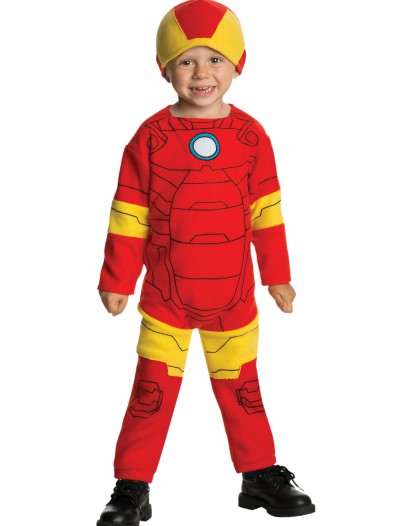 Toddler Iron Man Fleece Jumpsuit, halloween costume (Toddler Iron Man Fleece Jumpsuit)