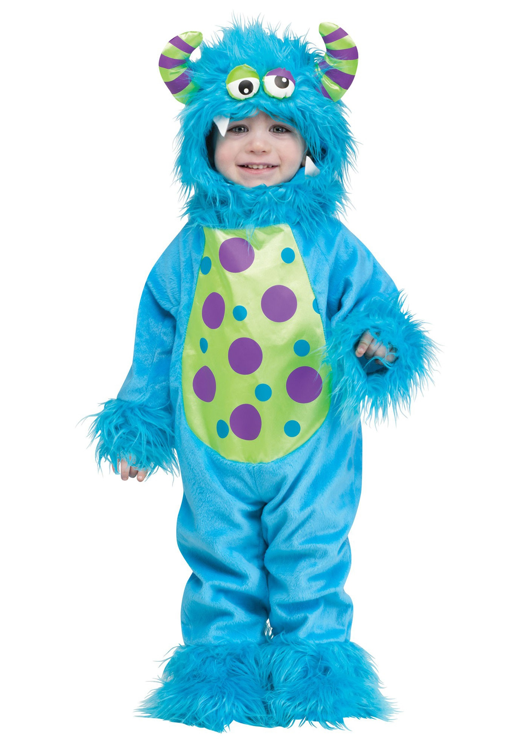 toddler lil monster blue costume - halloween costumes