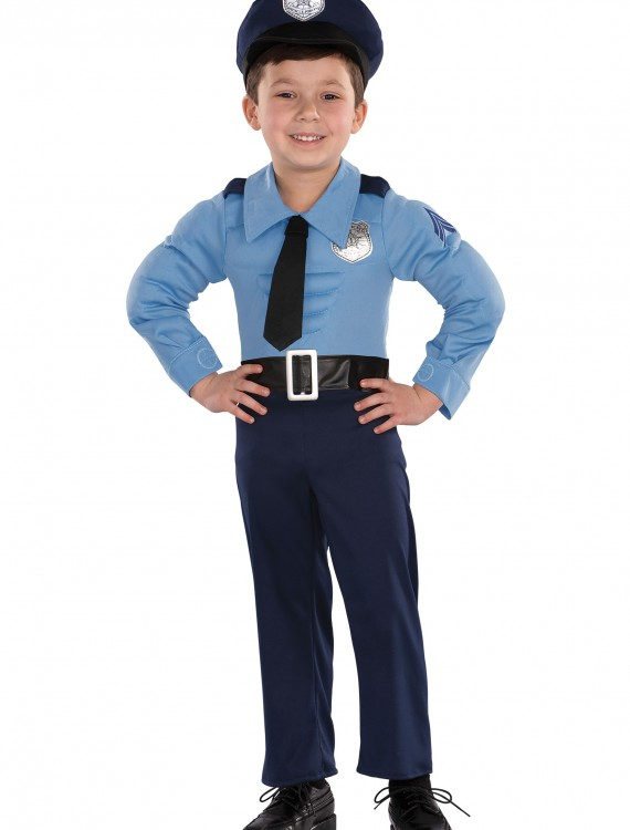 Toddler Muscle Chest Police Costume, halloween costume (Toddler Muscle Chest Police Costume)