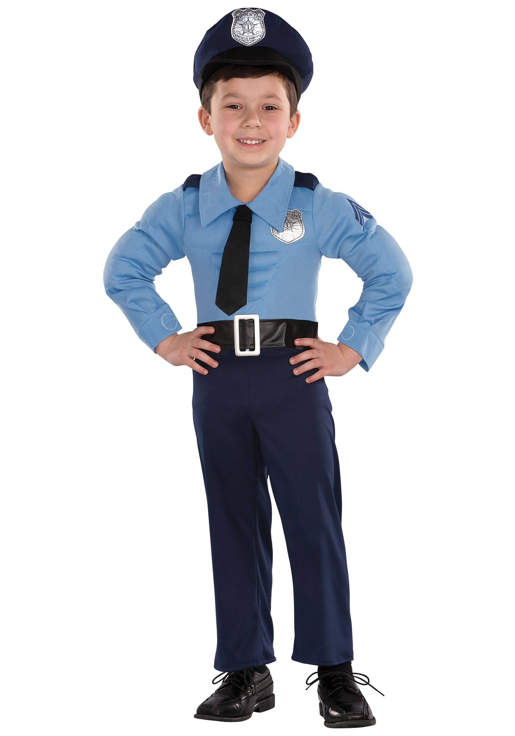 Toddler Muscle Chest Police Costume  sc 1 st  Halloween Costumes & Toddler Muscle Chest Police Costume - Halloween Costumes