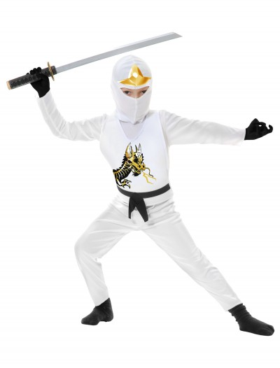 Toddler Ninja Avengers Series II White Costume, halloween costume (Toddler Ninja Avengers Series II White Costume)