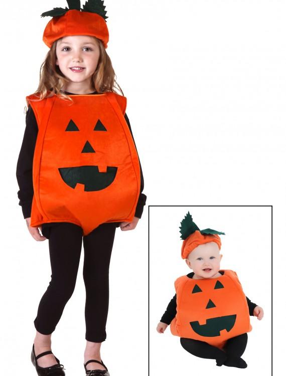 Toddler Orange Pumpkin Costume, halloween costume (Toddler Orange Pumpkin Costume)