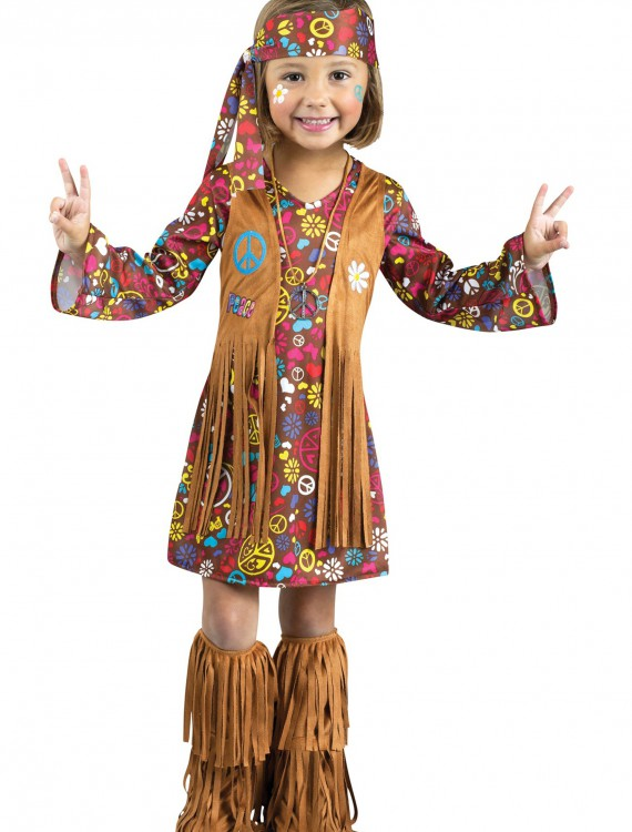 Toddler Peace & Love Hippie Costume, halloween costume (Toddler Peace & Love Hippie Costume)