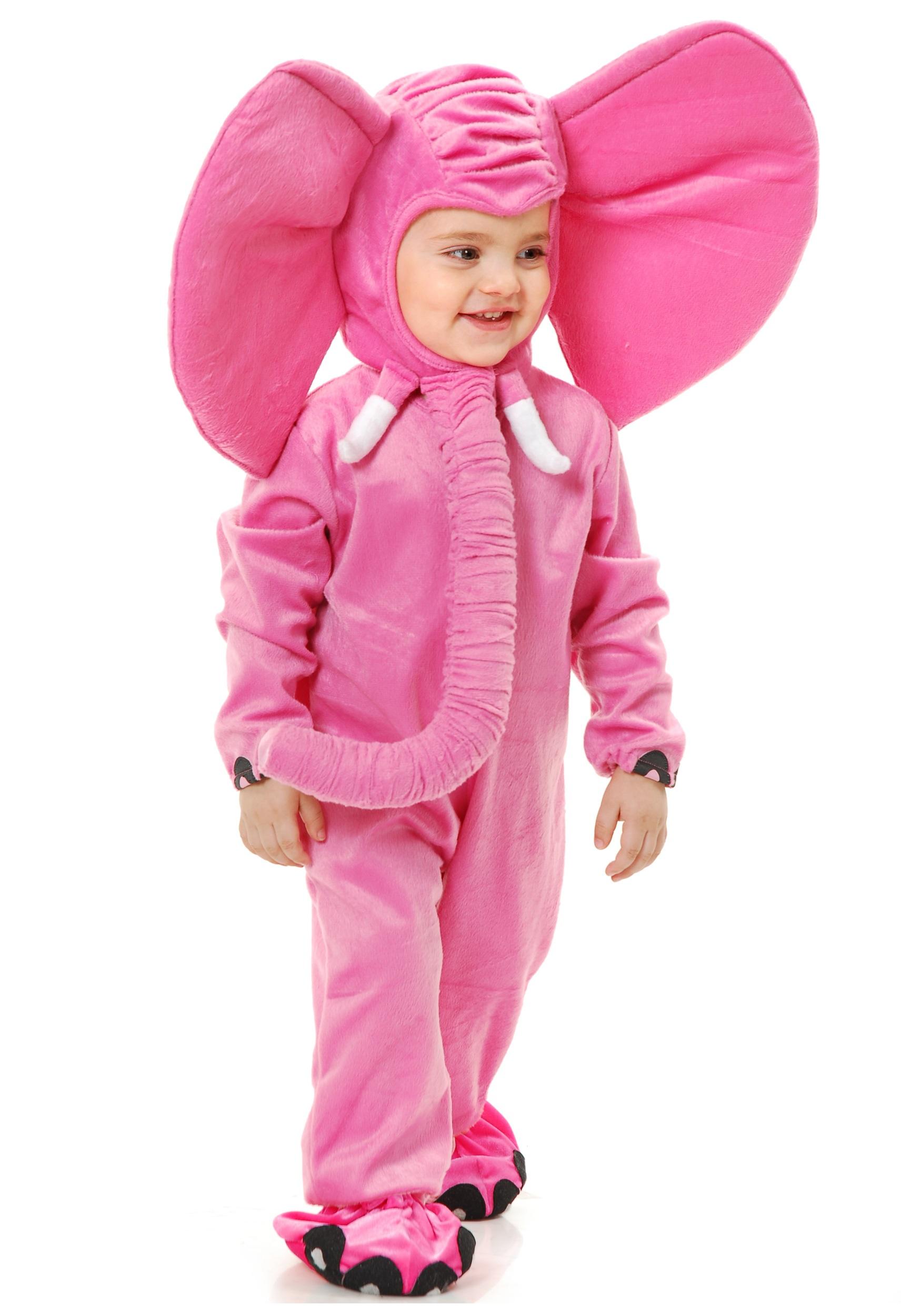 toddler pink elephant costume