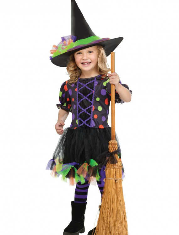 Toddler Polka Dot Witch Costume, halloween costume (Toddler Polka Dot Witch Costume)