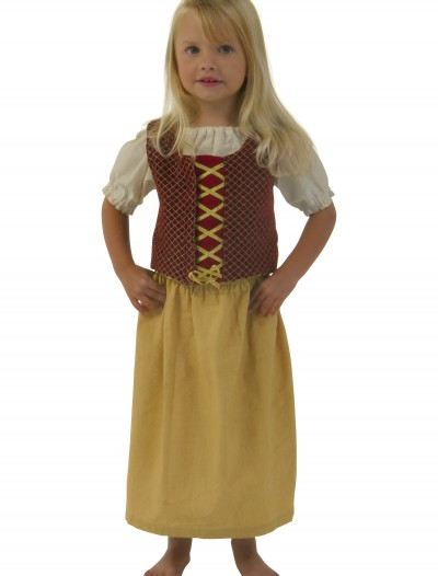Toddler Red Peasant Dress, halloween costume (Toddler Red Peasant Dress)