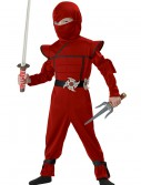 Toddler Red Stealth Ninja Costume, halloween costume (Toddler Red Stealth Ninja Costume)