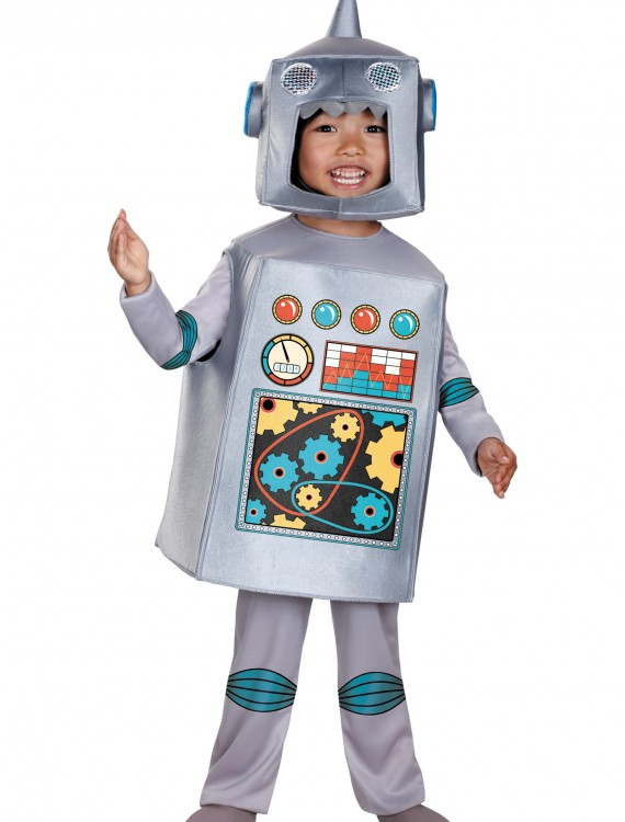 Toddler Retro Robot Costume, halloween costume (Toddler Retro Robot Costume)