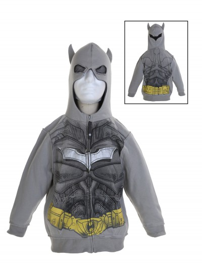 Toddler Silver Batman Costume Hoodie, halloween costume (Toddler Silver Batman Costume Hoodie)