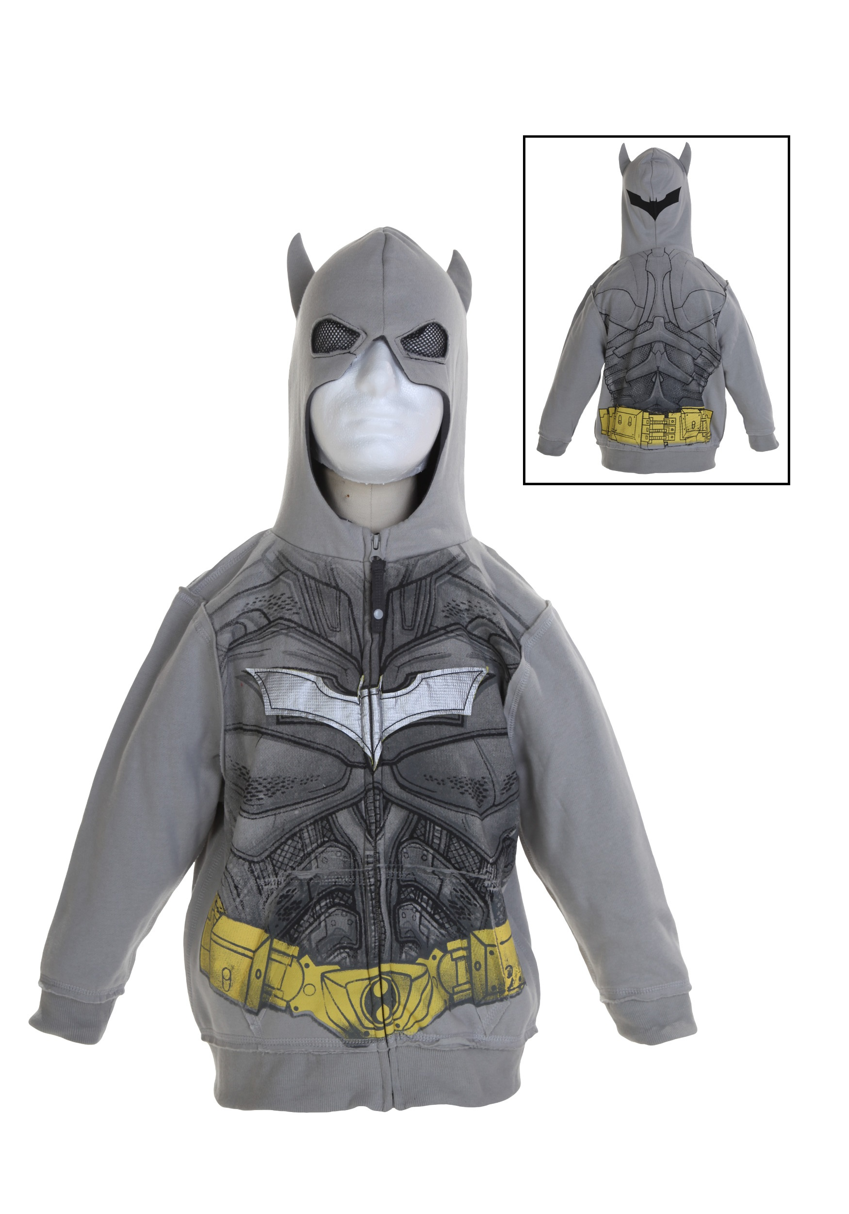 Toddler Silver Batman Costume Hoodie  sc 1 st  Halloween Costumes & Toddler Silver Batman Costume Hoodie - Halloween Costumes