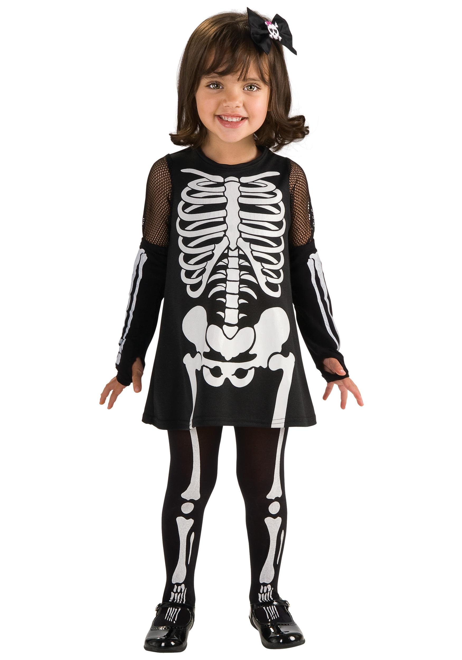 Halloween Skeleton Costume Kids.Toddler Skeleton Dress