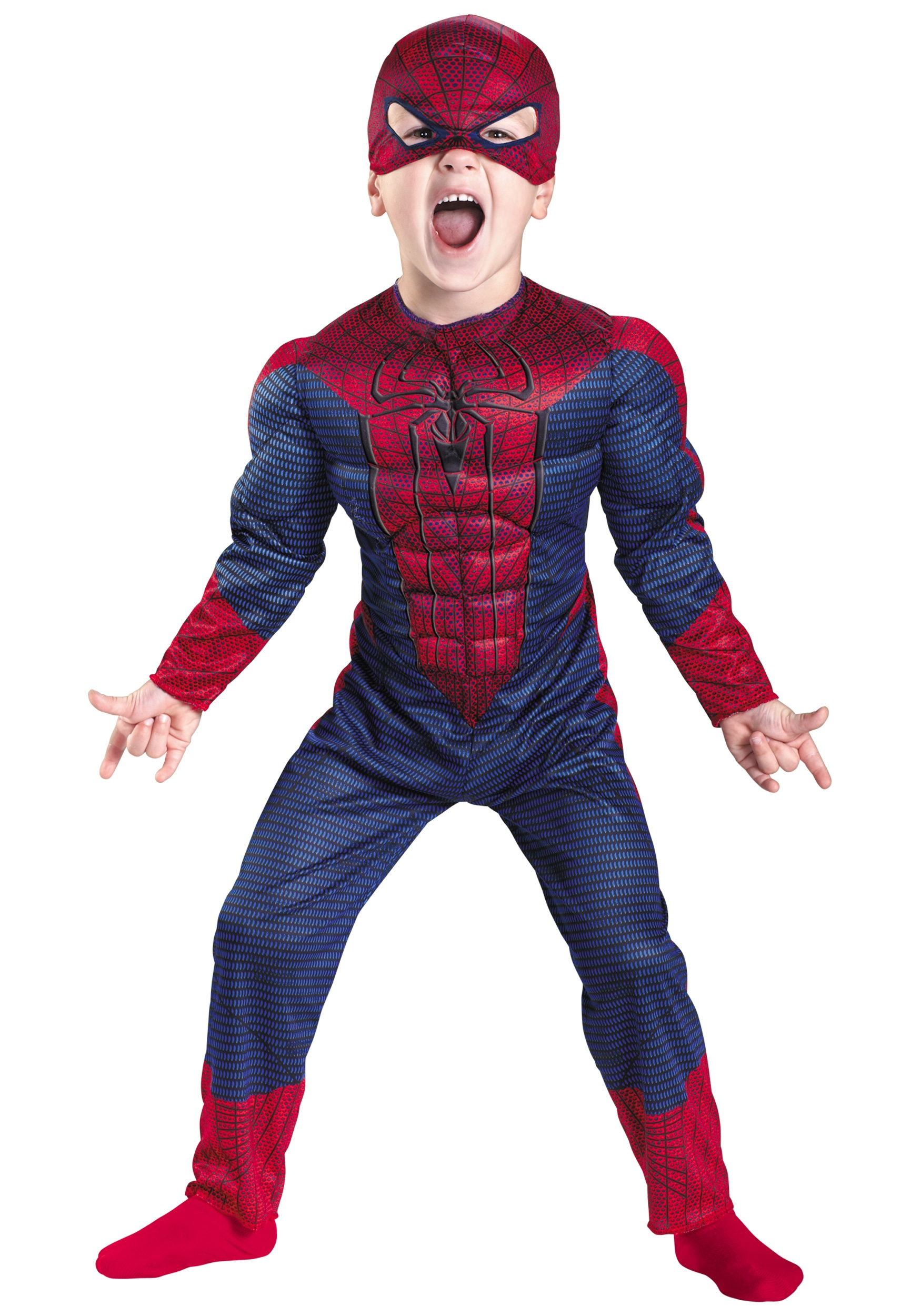 Toddler Spider-Man Movie Muscle Costume - Halloween Costumes