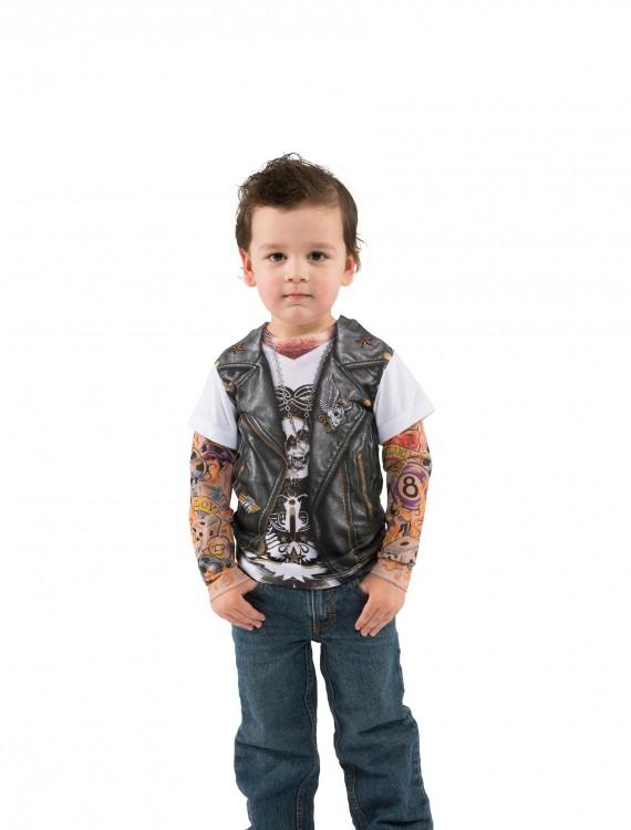 Toddler Tattooed Costume TShirt, halloween costume (Toddler Tattooed Costume TShirt)