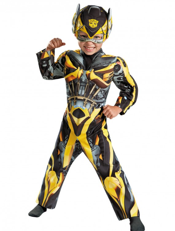 Toddler Transformers 4 Muscle Chest Bumble Bee Costume, halloween costume (Toddler Transformers 4 Muscle Chest Bumble Bee Costume)