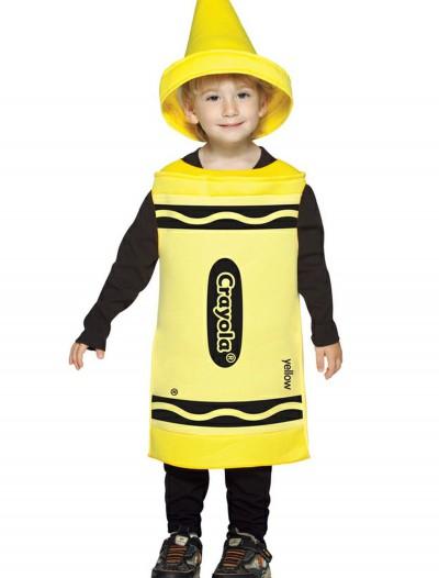Toddler Yellow Crayon Costume, halloween costume (Toddler Yellow Crayon Costume)