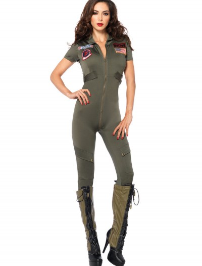 Top Gun Women's Jumpsuit, halloween costume (Top Gun Women's Jumpsuit)