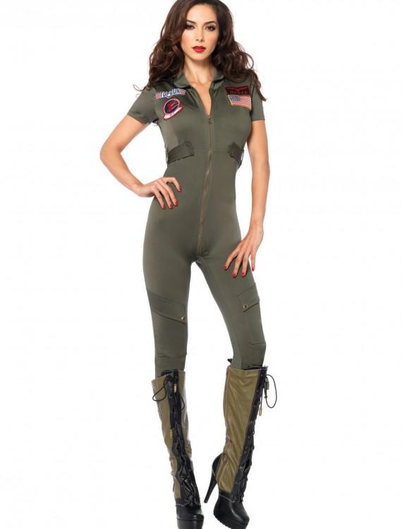 Top Gun Women's Jumpsuit, halloween costume (Top Gun Women's Jumpsuit)