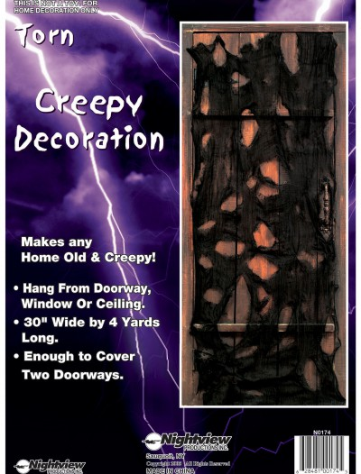Torn Creepy Door Decoration, halloween costume (Torn Creepy Door Decoration)
