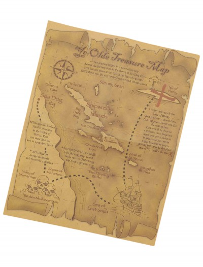 Treasure Map Accessory, halloween costume (Treasure Map Accessory)