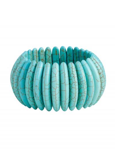 Turquoise Stone Stretch Bracelet, halloween costume (Turquoise Stone Stretch Bracelet)