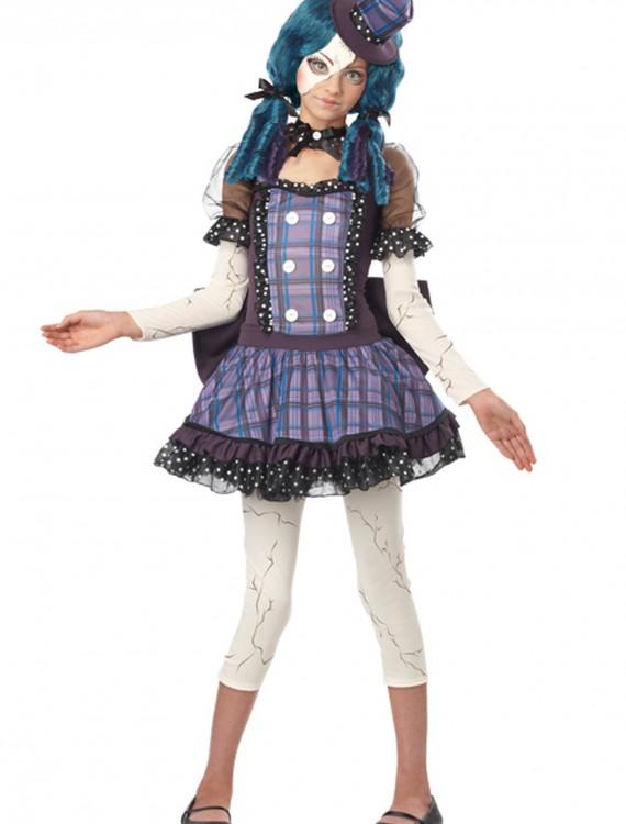 Tween Broken Doll Costume, halloween costume (Tween Broken Doll Costume)