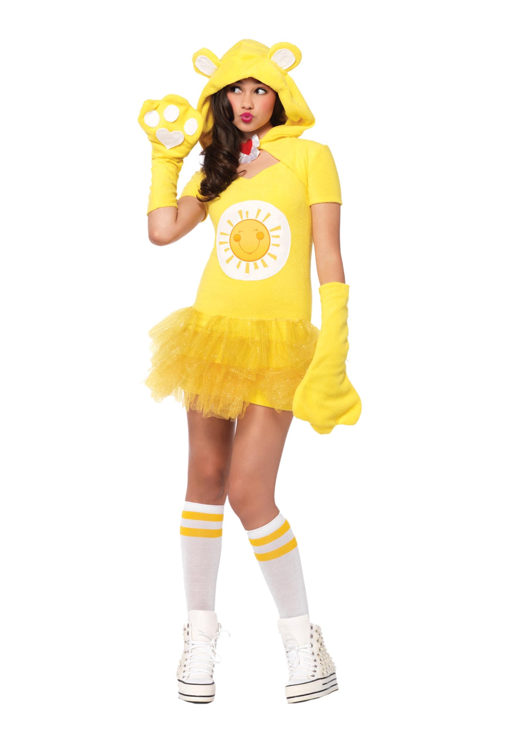 tween care bears funshine bear costume - halloween costumes