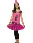 Tween Crayola Blush Glitz Dress, halloween costume (Tween Crayola Blush Glitz Dress)