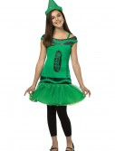 Tween Crayola Emerald Glitz Dress, halloween costume (Tween Crayola Emerald Glitz Dress)